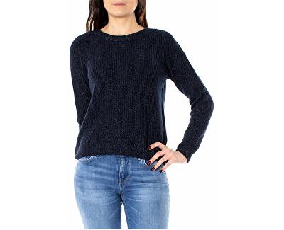 Dámsky sveter Shiny L/S Pullover Knt Night Sky W.Insignia Blu