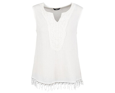 Bluză pentru femei Sevanna Crochet S / L TOP WVN 15160135-Cloud Dancer