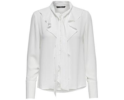 ONLY Dámska košeľa New Intu Ls Frill Shirt WBN White