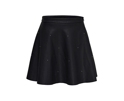 ONLY Dámská sukně Fia Stud Short Faux Leather Skirt Otw Black