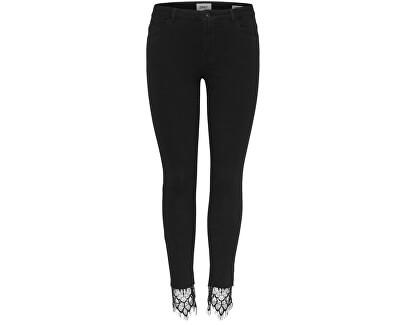 ONLY Dámske džínsy Carmen Rg Sk Lace Ankle Jeans DNM 15159100 Black 32