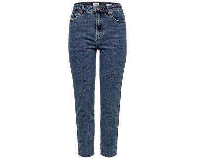 Dámské džíny ONLEMILY HW ST RAW ANK DB MAE 0005 NOOS Dark Denim Blue