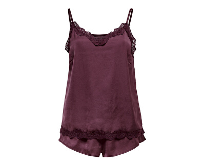 Női pizsama ONLVALENTINE NIGHT SET Fig