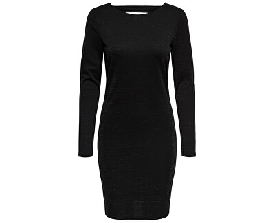 ONLY Dámské šaty Glitter L/S Short Dress Exp Black Lurex
