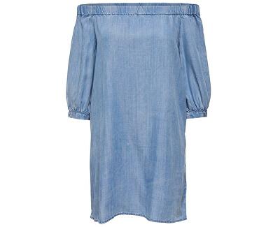 ONLY Dámske šaty Janice Off Shoulder DNM Dress Qyt Light Blue Denim