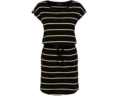 Damenkleid ONLMAY LIFE S/S DRESS NOOS Black DOUBLE YOLK YELLOW/CLOUD DANCER
