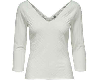 Damen T-Shirt ONLGINA 3/4 V-AUSSCHNITT TOP JRS Cloud Dancer