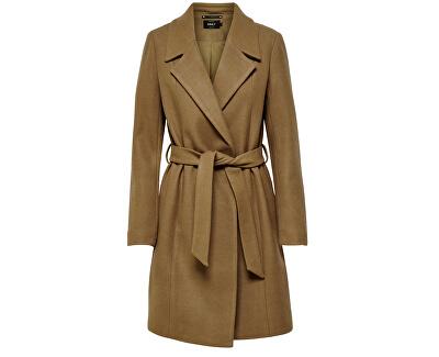 Dámsky kabát ONLREGINA WOOL COAT CC OTW Camel