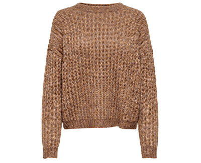Dámsky sveter ONLCHUNKY L / S Pullover KNT Camel