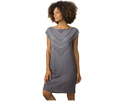 Prana Dámské šaty Sanna Dress Charcoal Synergy