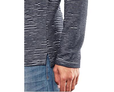 Bărbați cămașă albastră cu mâneci lungi