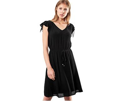 Q/S designed by Dámske čierne krepové šaty