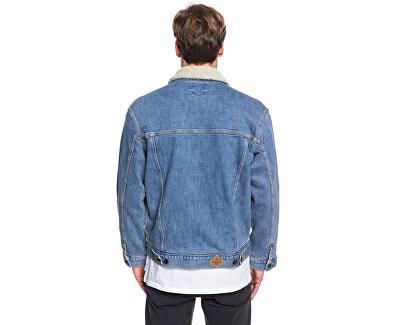 Pánská bunda Denim Jacket Sherpa Blue Used EQYJK03509-BYLW