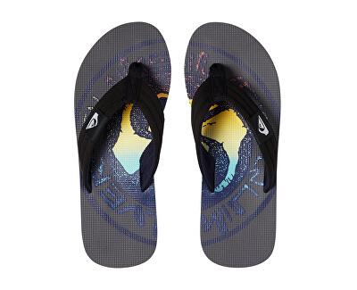 Pánské žabky Molokai Layback Grey/Black/Blue AQYL100784-XSKB