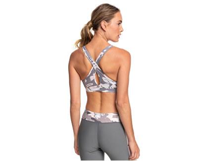 Dámská sportovní podprsenka Lets Dance Bra Printed Charcoal Heather Darwin S ERJKT03618-SZCH