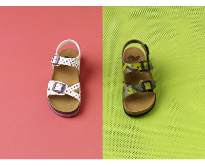 Detské sandále Air Bag B/S Kid Bioprint Multi Green F265741221