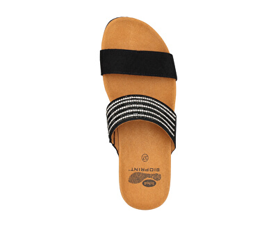 Dámské pantofle Daphne Bioprint Black F274141004