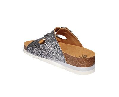 Dámské pantofle Glam SS Bioprint Pewter F274081047