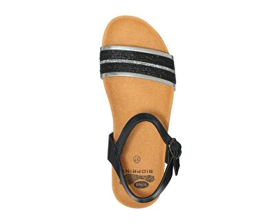 Dámske sandále Ivette Bioprint Black F274151004