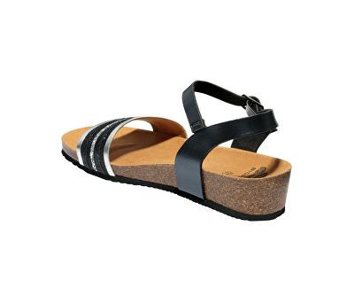 Dámské sandále Ivette Bioprint Black F274151004