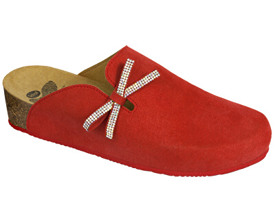 Dámské pantofle Ambla Bioprint Red F266961051