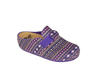 672efb78b05 Scholl Dámské pantofle Lareth Bioprint Purple Multi F272821280 ...
