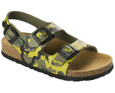 Scholl Detské sandále Air Bag B/S Kid Bioprint Multi Green F265741221