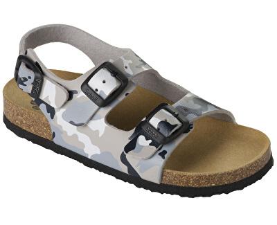 Detské sandále Air Bag B/S Kid Bioprint Multi Grey F265741865