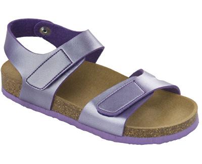 Detské sandále Dinder Kid Bioprint Lilac F265691033
