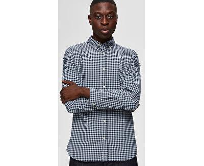 Pánská košile SLHSLIMGINGHAM SHIRT LS CHECK EX Dark sapp check Tops B 12