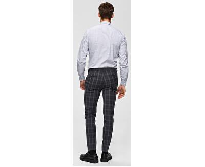 Pánská košile SLHSLIMSEL-WOODY SHIRT LS AOP B Bright White AOP Tops A 12