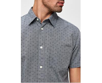 Pánská košile Slimmatthew Shirt Ss Aop W Smoked Pearl
