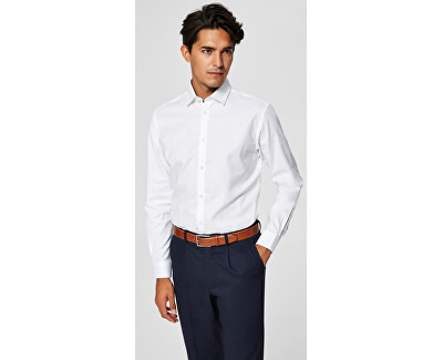 Pánská košile SlimNew-Mark Shirt Ls B Noos Bright White