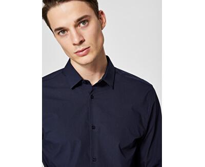 Cămașă pentru bărbați Slimpreston-Clean Shirt Ls B Noos Navy Blazer