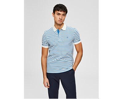 Herren Polo-Shirt W Egret Vallarta Blue