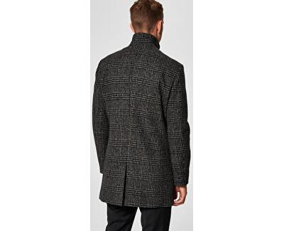 Palton bărbătesc SLHMOSTO WOOL COAT B NOOS Grey