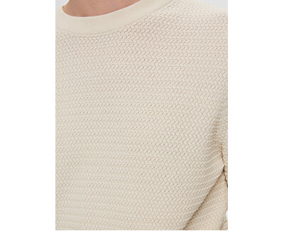 Männer Pullover mit Rundhalsausschnitt White