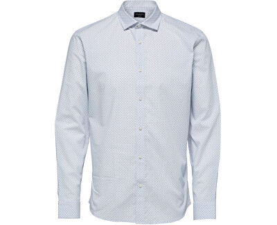 Herrenhemd SLHSLIMCODEN SHIRT LS MIX B White Stripes