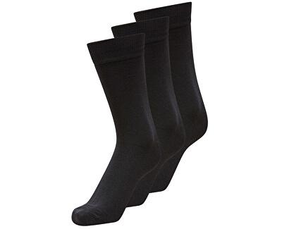 Pánské ponožky Noos SHD3-Pack Cotton Sock Black
