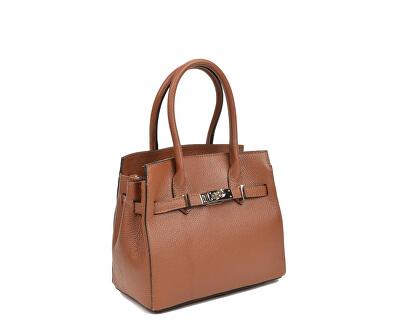 Dámská kožená kabelka AW19SC1568 Cognac