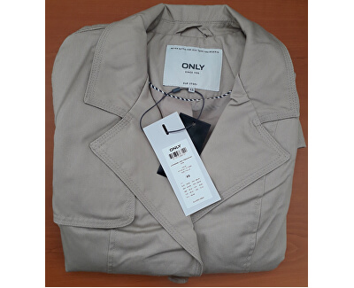 SLEVA I - Dámský kabát Finesse Long Trenchcoat Otw Humus