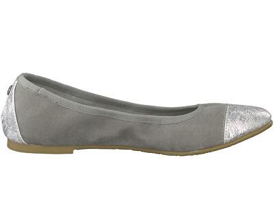Dámske baleríny Silv- Grey Comb 5-5-22118-22-919