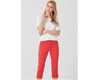 Dámske nohavice 14.904.72.2333.26Z4 Brick Red Denim Stretch