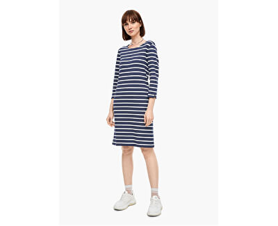 Frauenkleid 14.003.82.2968.58G9 Dark steel blue stripes