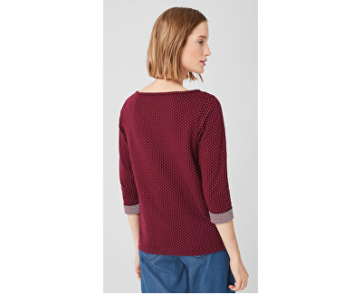 Dámske tričko 04.899.39.5350.49X1 Jewel Red Knit Dessin
