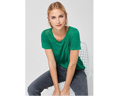 Dámske tričko 21.907.32.4616.76D0 Pine Green Placed Print