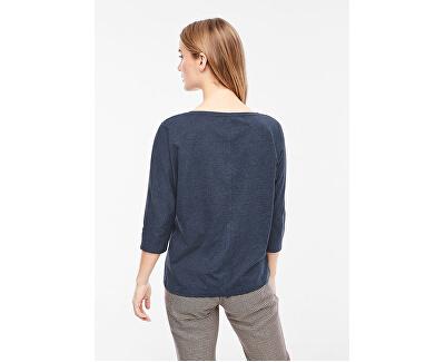 Dámske tričko T-SHIRT 3/4 SLEEVE Navy Placed Print 14.910.39.2434.59D2
