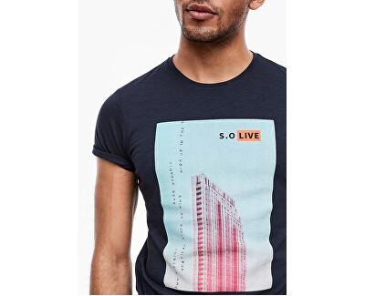 Herren T-Shirt 13.003.32.4738.58A1 Medieval blue AOP
