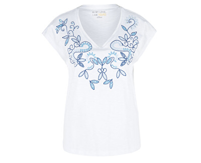 Női póló14.904.32.4882.01L0 White Embroidery