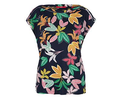 Dámske tričko 14.907.32.4052.59C2 Navy Floral Print